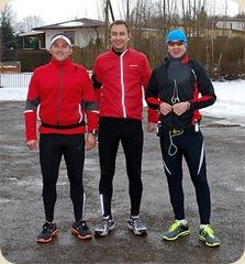 Carsten, Matthias und Jens am Süßen See